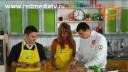 Ужин с первого взгляда (1 сезон) | Карпаччо из лосося. Мангецу с мини овощами гриль. Малиновый десерт с безе