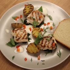 Треска по-португальски со шпинатом и картофелем