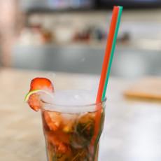 Безалкогольный клубничный мохито