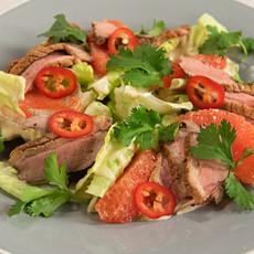 Салат с уткой и грейпфрутом