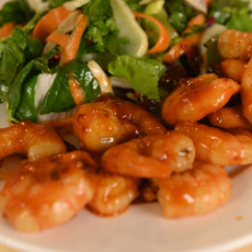 Салат из фенхеля с креветками