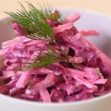 Салат из печеной свеклы с яблоком