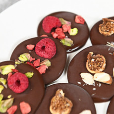 Шоколадные медианты с орехами и сухофруктами