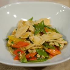 Курица с овощами в апельсиновом соусе