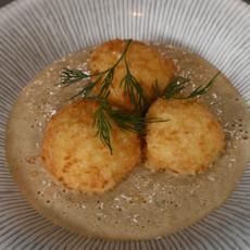 Грибной суп-пюре с картофельными крокетами