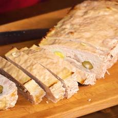 Мясной хлеб с жаренным во фритюре бататом