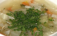 Суп с молодыми овощами