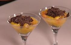 Мандариново-апельсиновый десерт с шоколадом