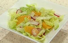 Салат с редиской и апельсинами