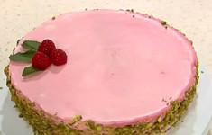 Творожный торт с малиновым муссом