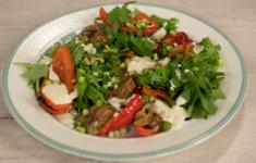 Салат из запечённого перца и белых грибов