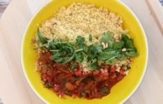 Салат из лечо и кускуса