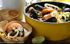 Чили с морепродуктами в тортильях