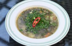 Суп из сайры и морской капусты