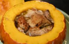 Цыплята корнишоны в тыкве
