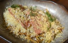 Салат «Горячая мимоза»