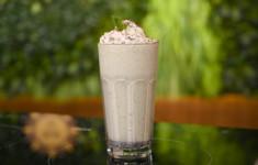 Мятный молочный коктейль
