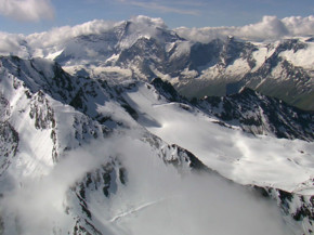 Альпы с высоты птичьего полета